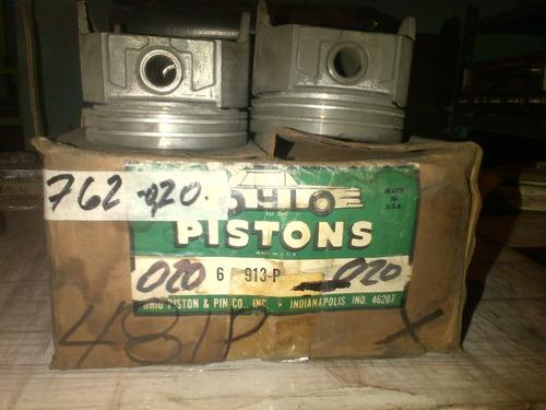 pistones y anillos ford motor 230, 232,  v 6 cil. a 020