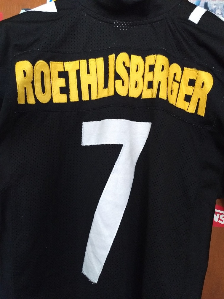 premium selection 899a5 40578 Pisttburght Steleers Roethlisberger Jersey Talla L Adulto - $ 1,200.00