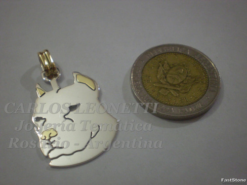 pit bull - dije en plata y oro