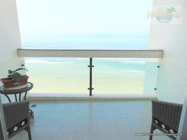 pitangueiras - frente total ao mar - linda vista - garagem demarcada no prédio. - ap4210