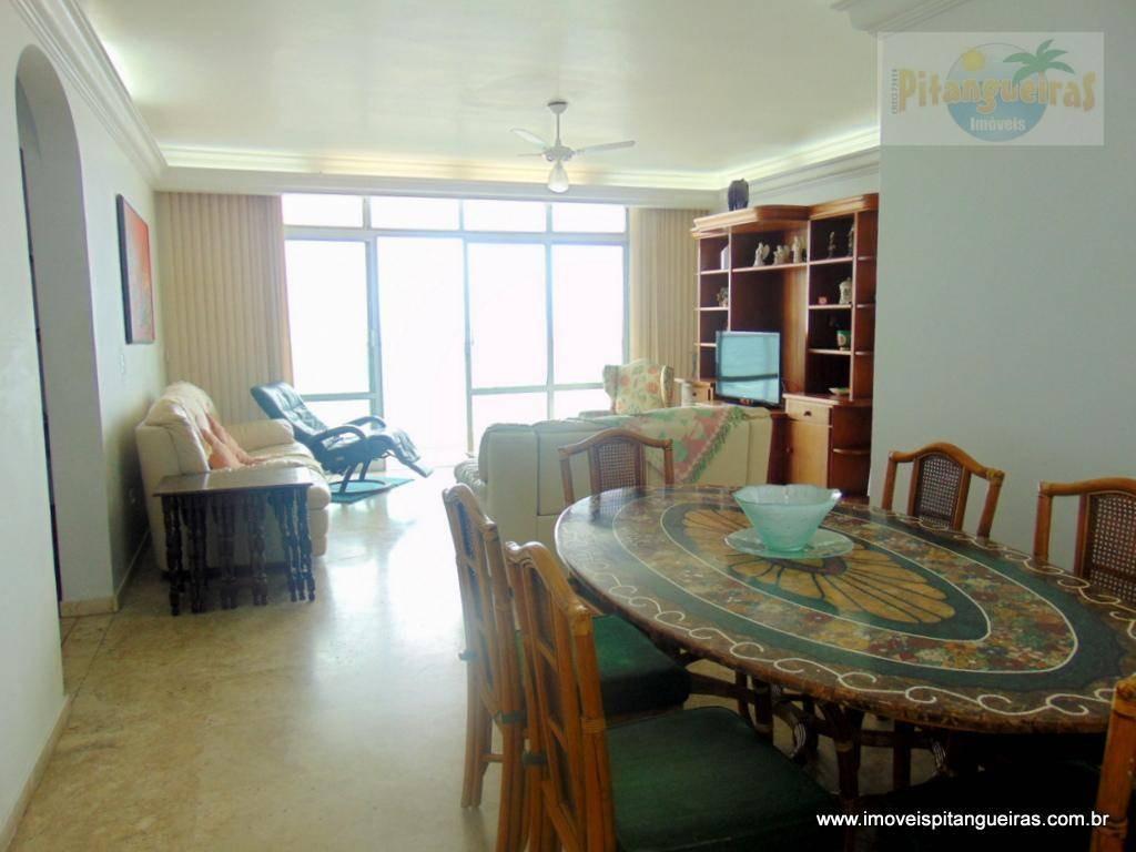 pitangueiras - frente total par ao mar - 160 m² úteis - 01 vaga de garagem. - ap4304
