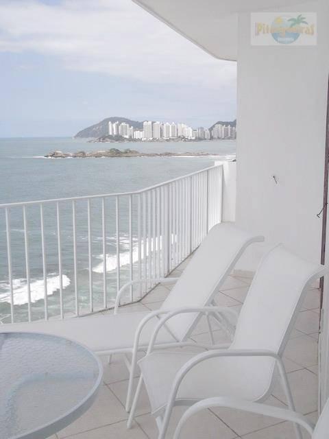 pitangueiras - frente total para o mar, vista panorâmica, alto padrão - ap1816