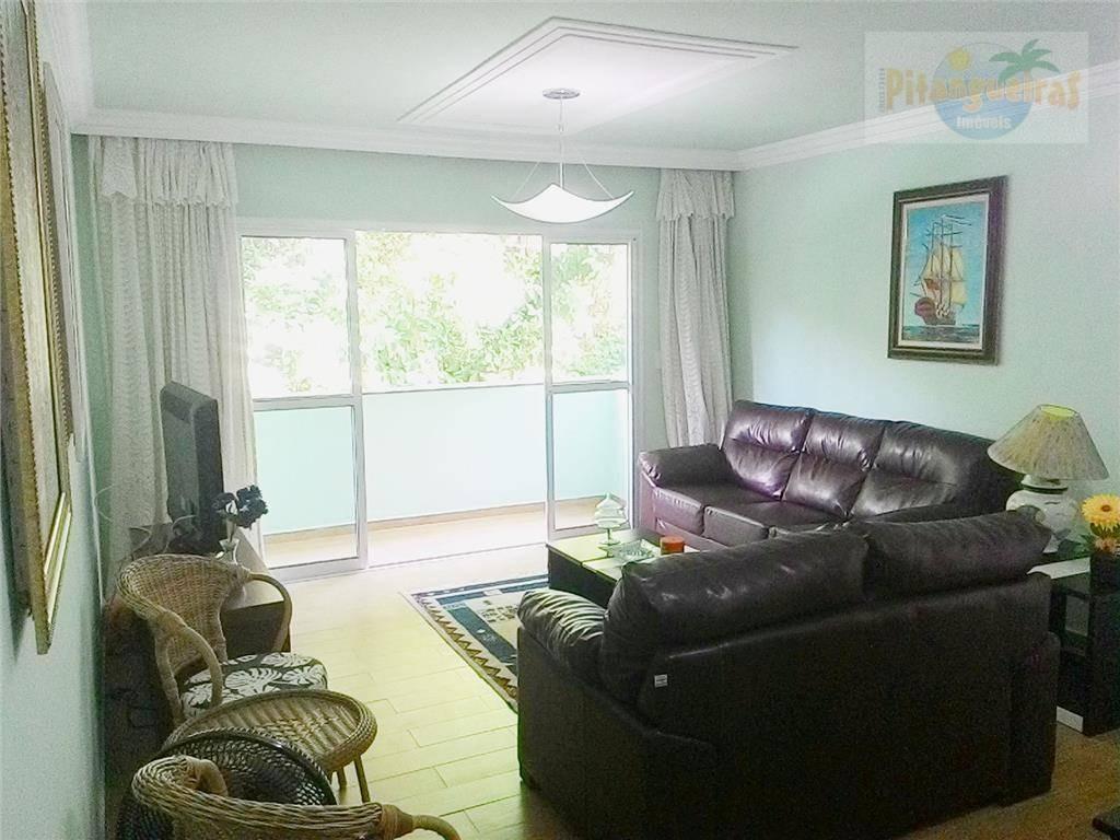 pitangueiras - lindo apartamento - garagem - mobiliado - localização privilegiada - 30 metros do mar - churrasqueira. - ap2290