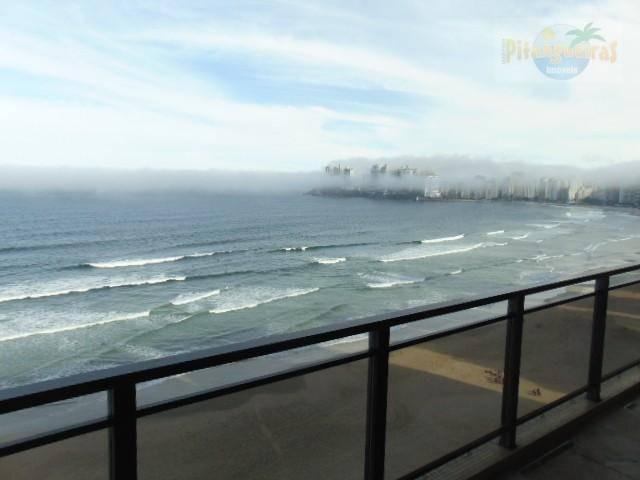 pitangueiras prédio lindo frente total ao mar, 3 suítes,ampla varanda com linda vista mar,garagem,local nobre - ap2955