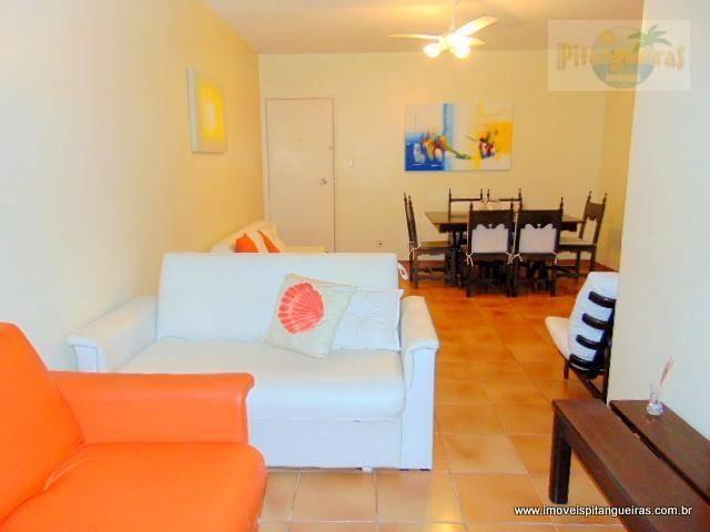 pitangueiras - uma quadra da praia - linda vista - 105 m² úteis - garagem - condomínio baixo. - ap4062