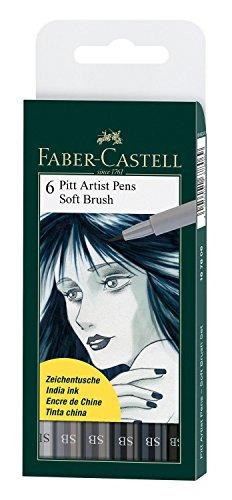 pitt artist pens - monedero conjunto de los 6 estilos de plu