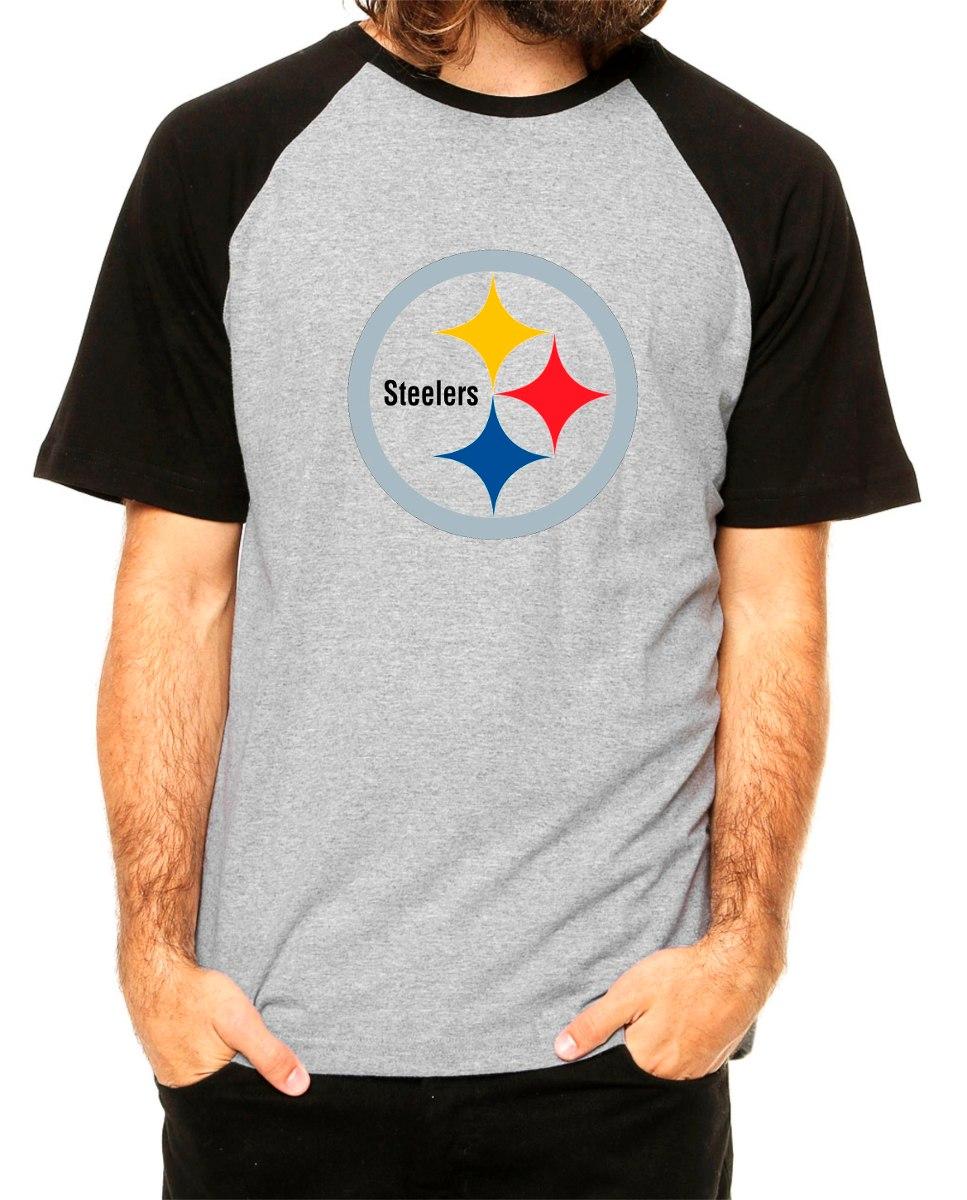 7d3f4ffcb7 pittsburgh steelers - camiseta raglan nfl swag patriots. Carregando zoom.