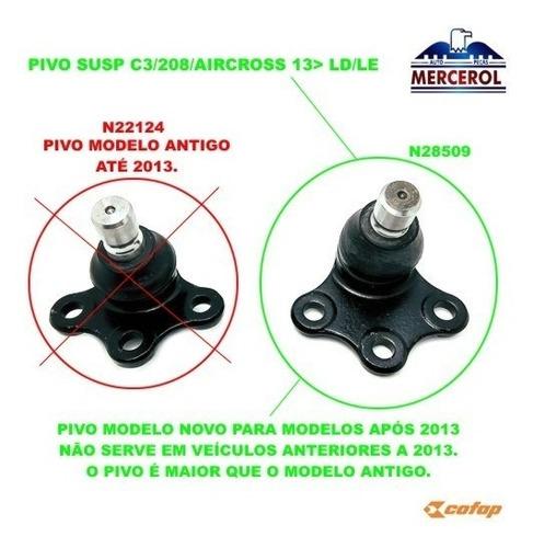 pivo suspensao c3 aircross 208 2010 2011 2012 2013 2014 2015