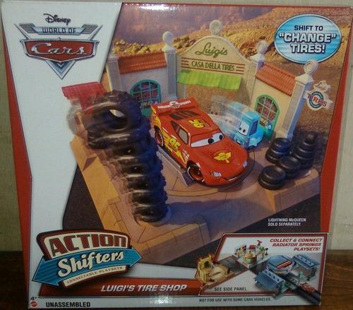 pixar cars disney  shifters acción luigis playset