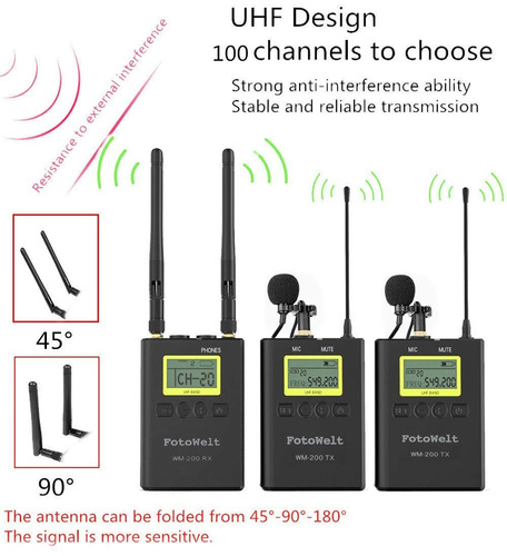 pixel 100-channel dual channel uhf professional wireless