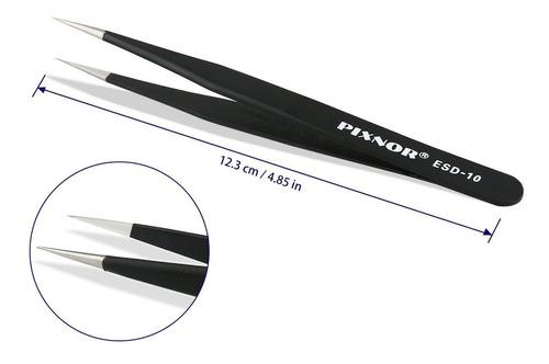 pixnor pinzas de 7 piezas de precisión antiestática esd in