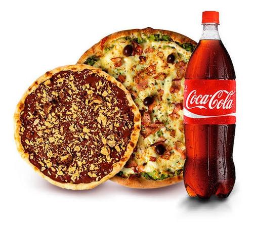 piza dupla mas coca 2l