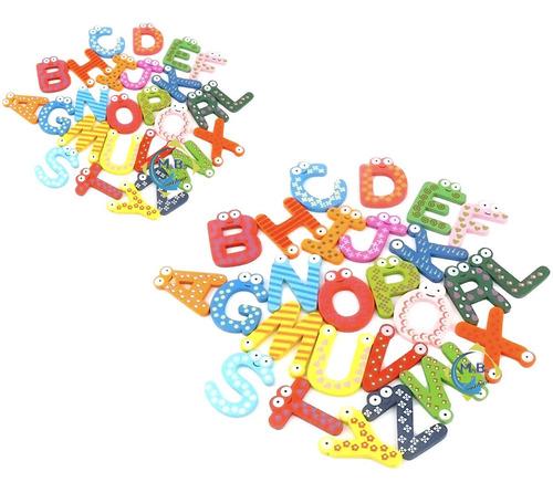 pizarra + 52 letras de abecedario juego madera imantado niño