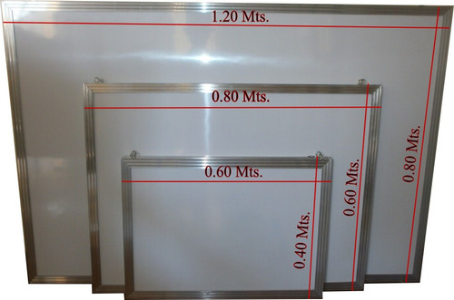 pizarra acrilica 120 x 80 cms.