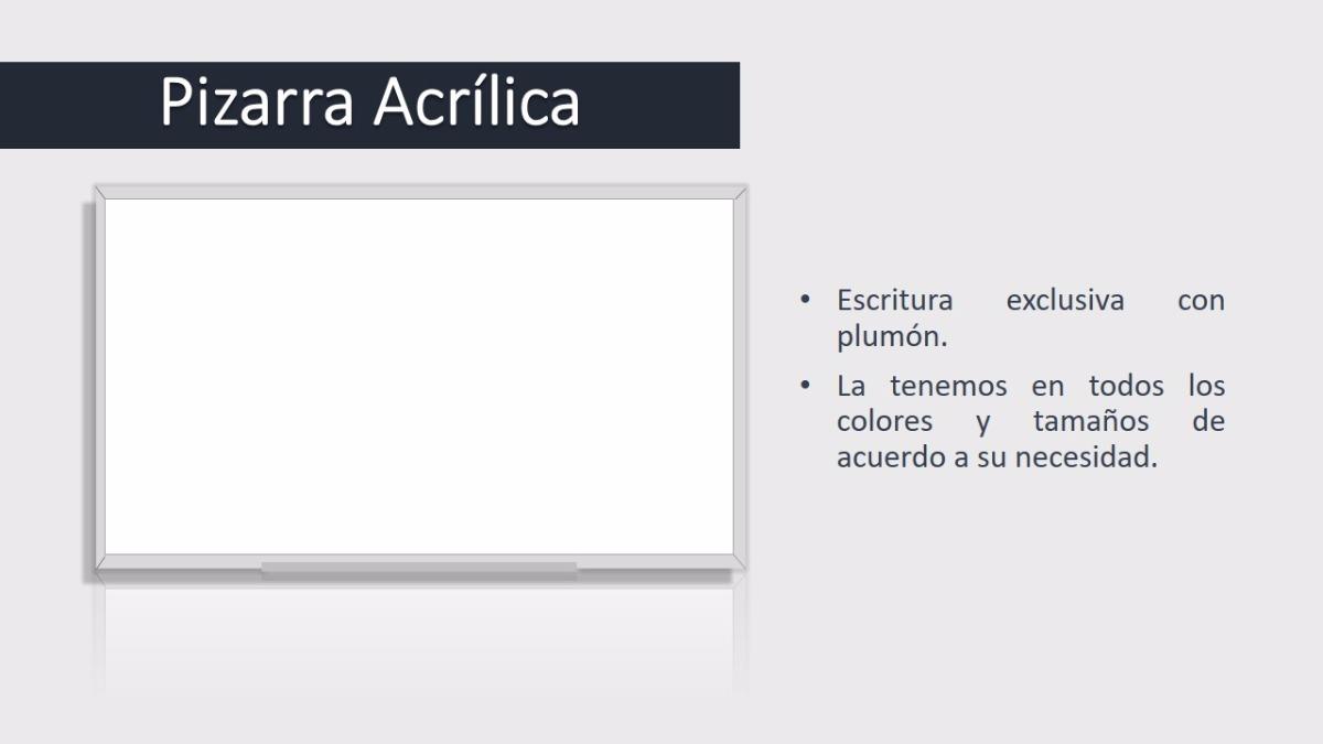 Pizarra Acrilica - Equipamiento para Oficinas en Mercado Libre Perú