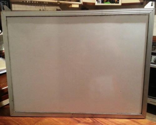 pizarra acrilica blanca 60x80 marco de aluminio oferta