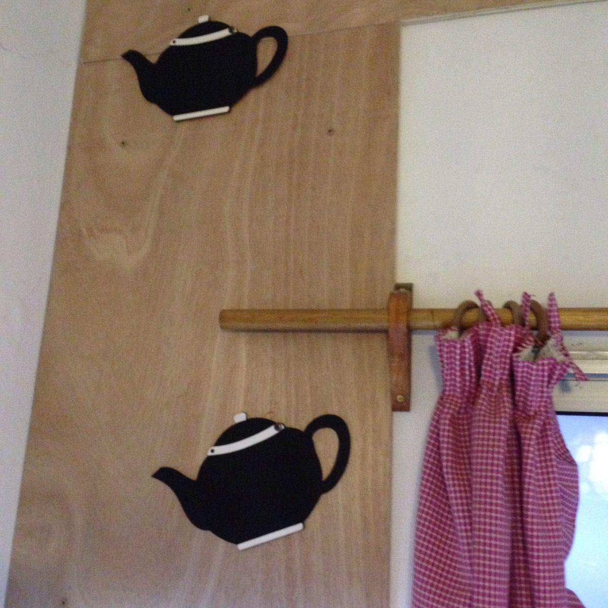 Pizarra adorno en madera para cocina 180 00 en - Escaleras de madera adorno ...