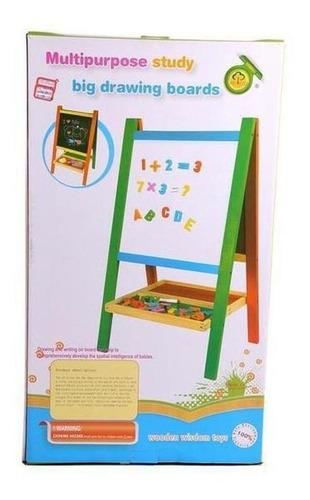 pizarra atril didáctica magnética niños + set accesorios