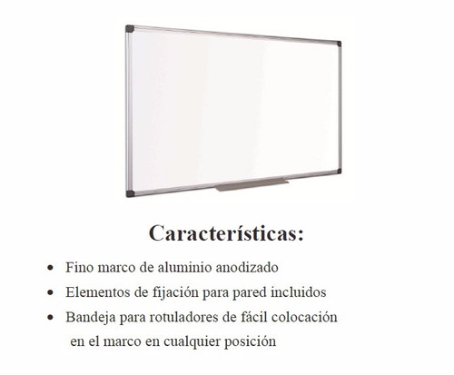 pizarra blanca 0.60 x 0.90 mt. bisilque