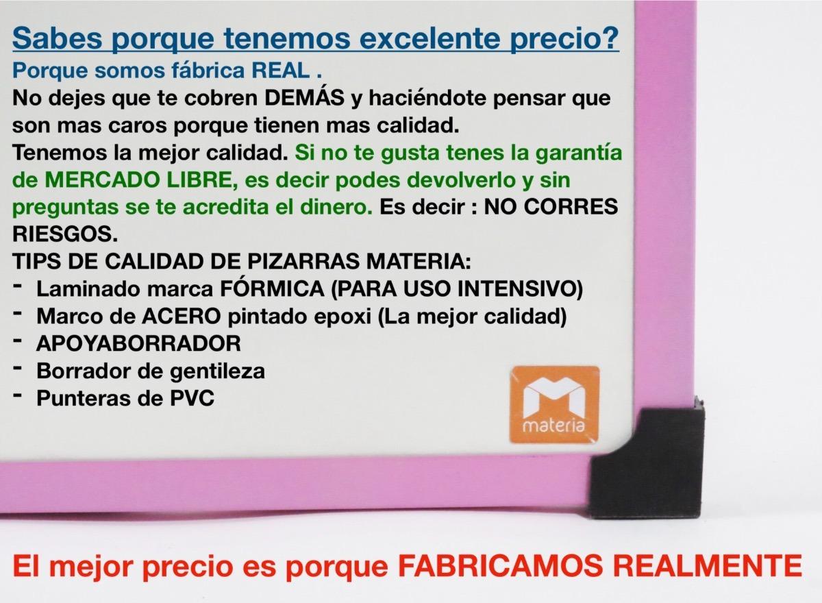 Pizarra Blanca 50x70 Cm Marco Metal Con Borrador!! - $ 350,00 en ...