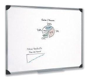 pizarra blanca 60x80 marco aluminio