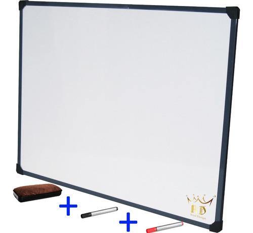 pizarra blanca 60x80cm reforzada + 2 marcadores + borrador
