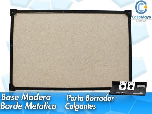 pizarra blanca 80x120 borde metálico + combo de regalo envío
