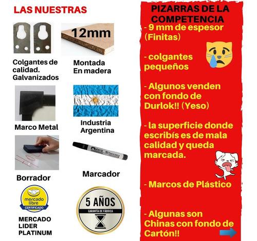 pizarra blanca 80x120cm+2 marcadores y accesorios gratis