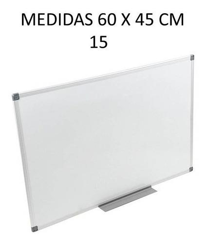 pizarra blanca acrilica marco de metal 60 x 45 cm
