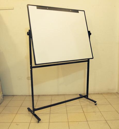 pizarra blanca con pedestal rodante medida: 180cm. x 120cm.