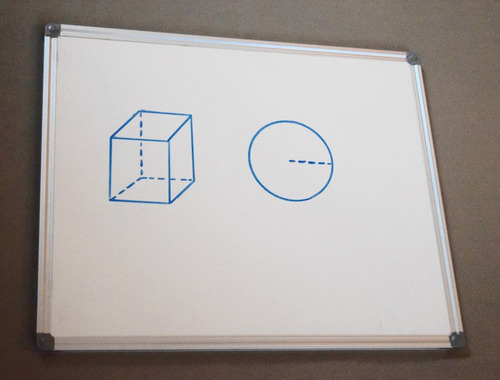 pizarra blanca magnética de tiza líquida 120cm. x 80cm.