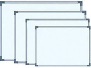 pizarra blanca para marcador  80x120 marco metal borrable