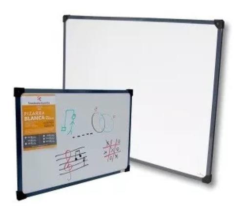 pizarra blanca para marcador borde metalico 60x80cm
