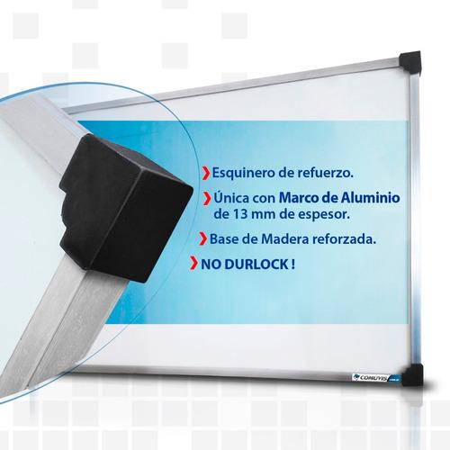 pizarra blanca p/marc 120x240cm marc aluminio premium