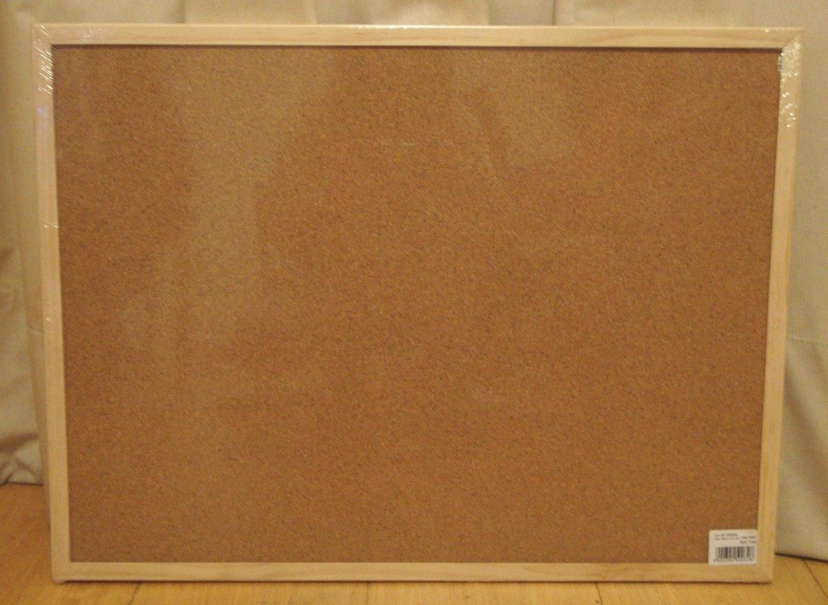 Pizarra corcho marco madera pinchos 90 x 60 cm nice home en mercado libre - Pizarra corcho ...