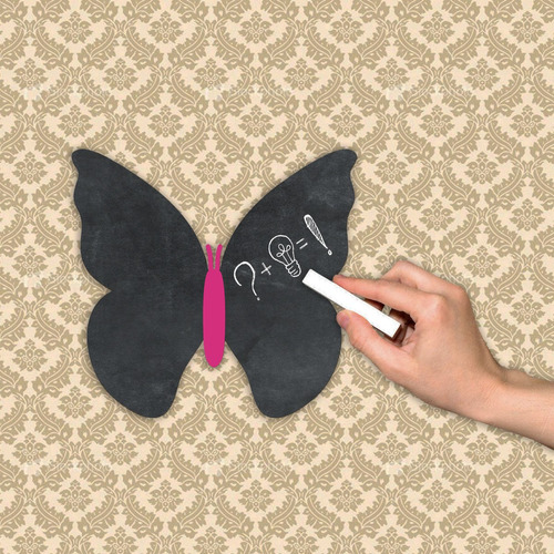 pizarra decorativa pizarrón (no vinilo) mariposa rosa