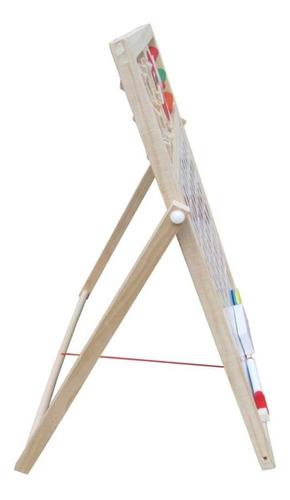 pizarra doble magnética didáctica+set niños juguete 32x29 cm