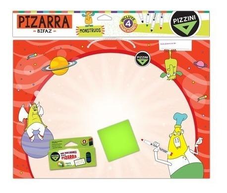 pizarra escolar blanca bifaz +4 marcadores borrables pizzini