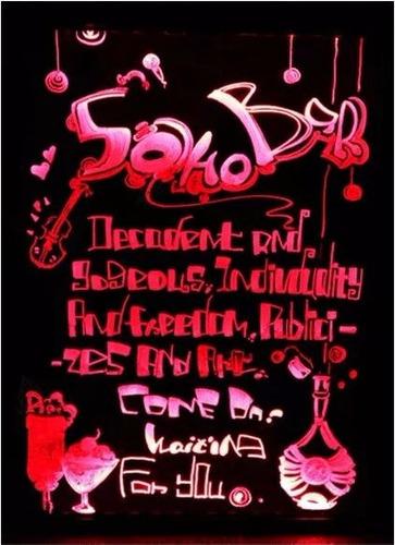 pizarra led 70x50 publicitaria + 8 plumones + tripode + pdf