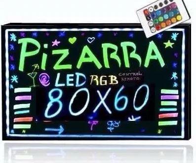 pizarra led 80x60 publicitaria + 8 plumones + 3 regalos pdf