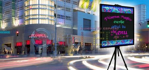 pizarra led borrable efecto neon 40x 60 cm + 2marcadores