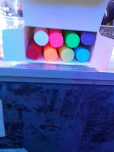pizarra led luces de 50 x 70cm publicidad +8 plumones gratis