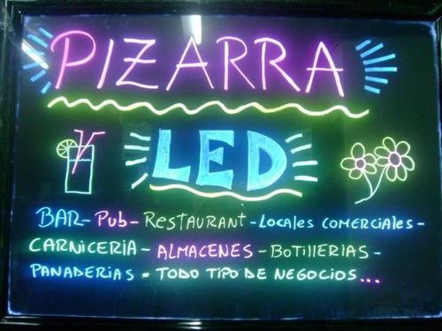 pizarra led publicitaria 40x60/50x70/60x80cm + 8 plumones
