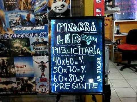pizarra led publicitaria + 8 plumones 6mm precio de oferta