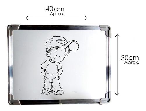 pizarra magnetica 30x40 niños adulto con apoyo para plumones