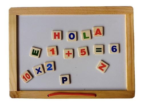 pizarra magnética didáctica pizarrón tiza letras imán niño