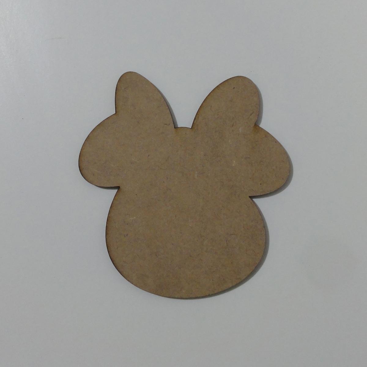 Pizarra Minnie Mouse Cara 30 Cm En Fibrofacil Para Pintar - $ 20,00 ...