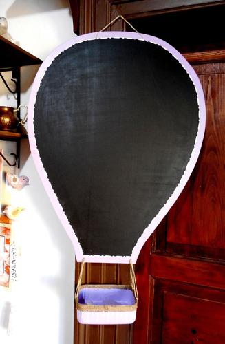 pizarra modelo globo aerostático - con borrador y tizas