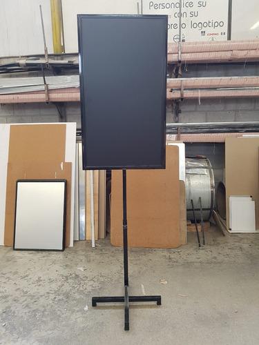 pizarra negra doble lado con pedestal de altura regulable
