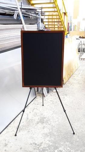 pizarra negra para tiza y marcador de neón 80 cm. x 60 cm.